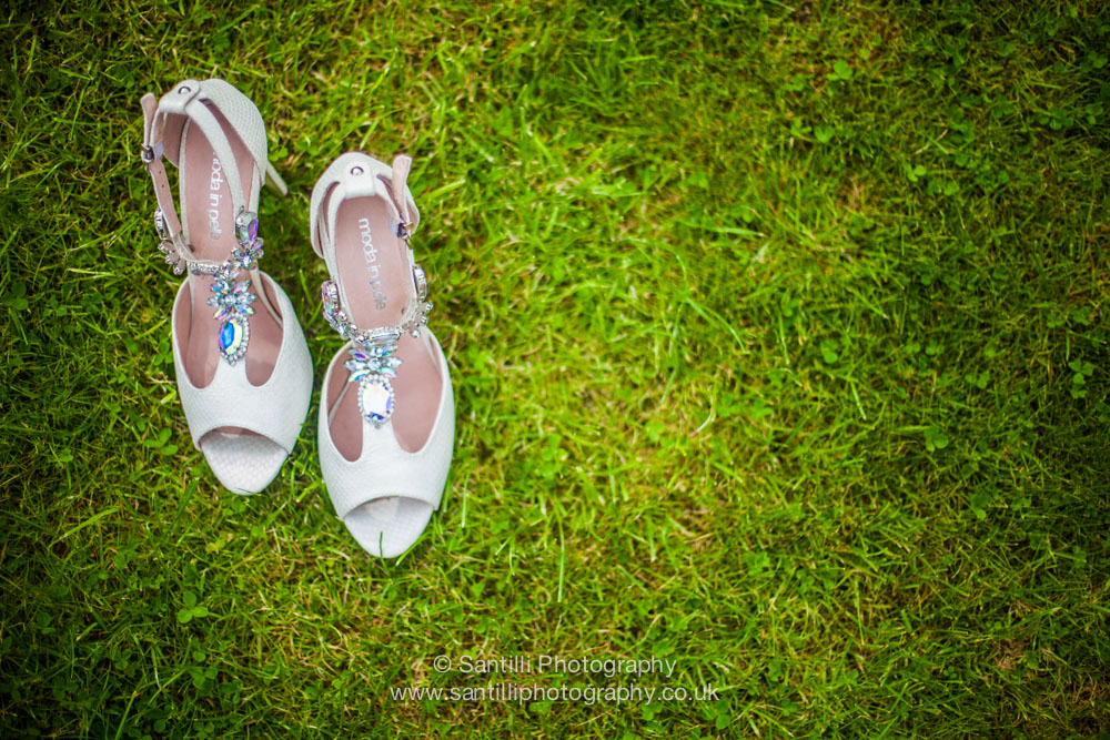 The brides wedding shoes
